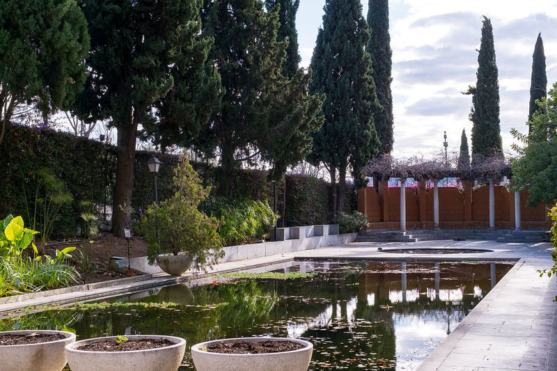 Conception garden, Jardin la concepcion in Malaga, Spain Architecture Beauty In Nature Botanical Garden Concecion Day Fountain Growth Jardin Luxembourg Nature No People Outdoors Park - Man Made Space Sky Swimming Pool Tree Water