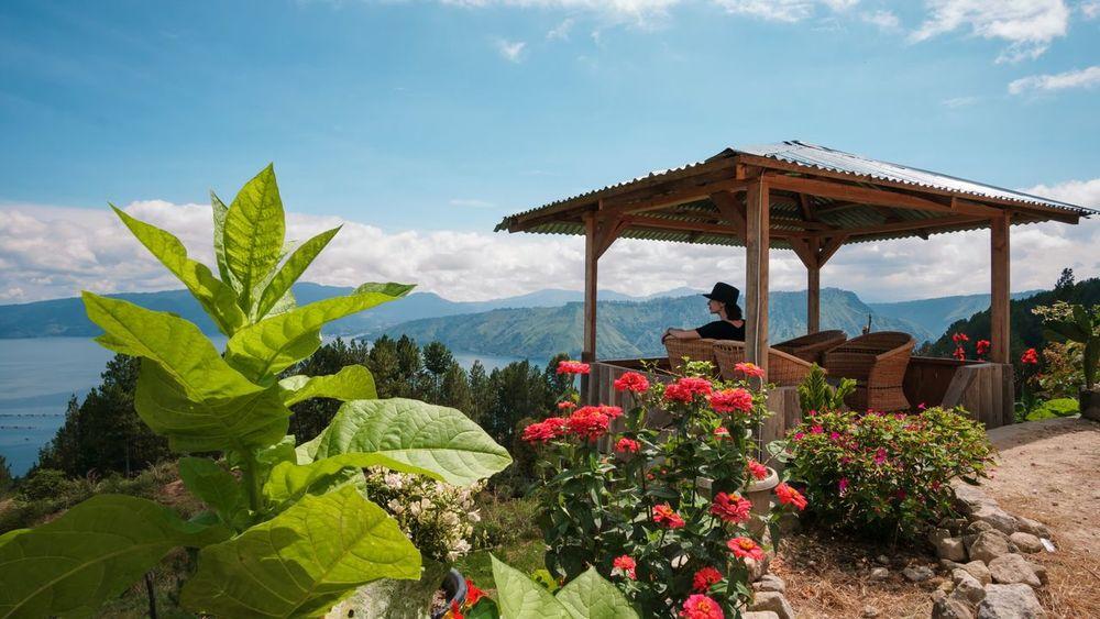 Sky And Clouds Vulcano Island Women Rose - Flower Toba Lake Sumatra  Lake Plant Scenics Landscape Day Blue Travel Destinations