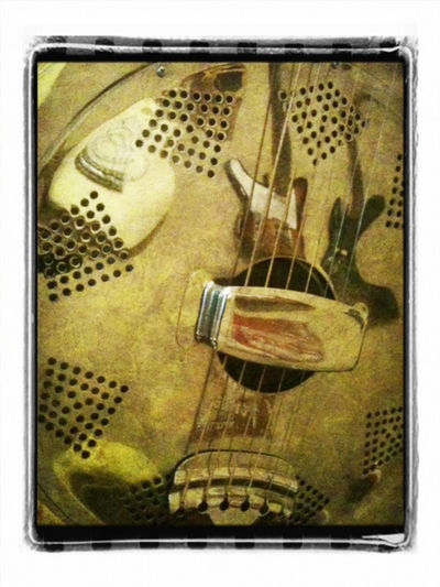 Close-up Full Frame Guitar Macro Musical Instrument No People Reflection Resonator Steel Guitar dobro Blues grain