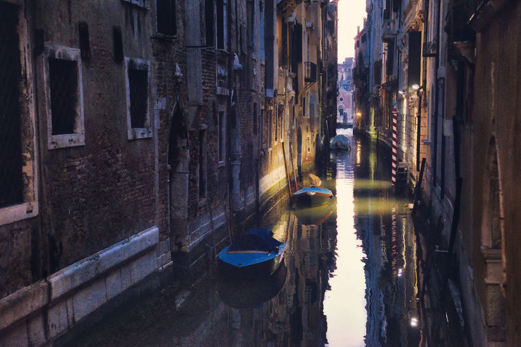 The canal Venezia Venice, Italy Architecture Boat Building Exterior Built Structure City Day Nature No People Outdoors Reflection Venice Water