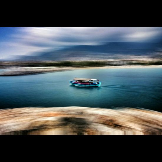 Boat Medditerineansea Mountain Clouds Long Exposure PhonePhotography EyeEm Best Shots Landscape Vscocam