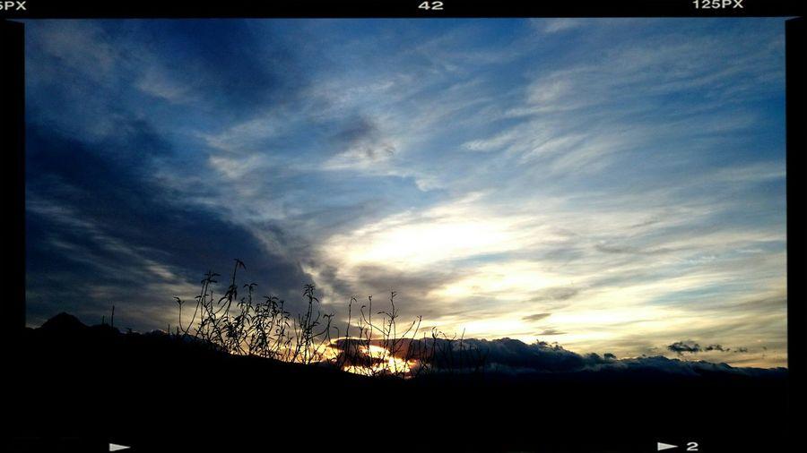 Al calar della sera... No Filter Skyporn Sky And Clouds Silhouette