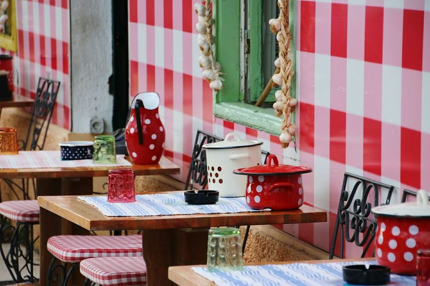 Window Table Day Indoors  No People Food Restaurant Biograd Na Moru Croatia Outdoors Streetfood Street Photography