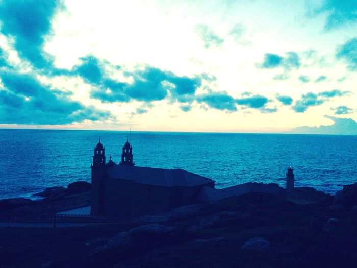 Muxía Church Sea And Sky