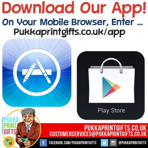Guys check out our new app!! You can order from the app! In your mobile browser go to Pukkaprintgifts.co.uk/app Gonna add more products Tomoz!