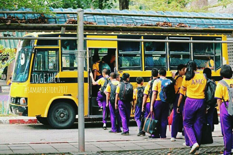 """together"" Togerher Vintage Bus School Bus Vintage Camera Vintage Photo Happy :) Happyday♥ OPPOFS1 Vintage Style Venture Thailand Coffeethai สะมะภพอินฟรุ้งฟริ้ง Coffee ☕"