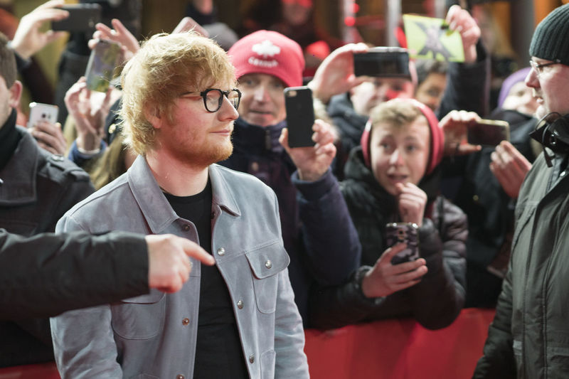 Artist Celebrity Ed Sheeran Ed Sheeran <3 Ed Sheraan❤ Famous Singer  Singer/Song Writer Arts Culture And Entertainment Berlinale Berlinale 2018 Berlinale Festival Berlinale2018 Berlinale68 Celebrities Communication Crowd Famous People Photographing Singer And Artist Song Writer Spectator Waist Up