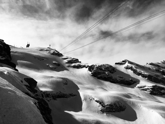 Mount Titlis in spring Happy Time Spring Is Coming  Endless Winter Alps Switzerland Titlis,Switzerland Engelberg Sky Cloud - Sky Nature Day Beauty In Nature Outdoors No People Landscape Snow