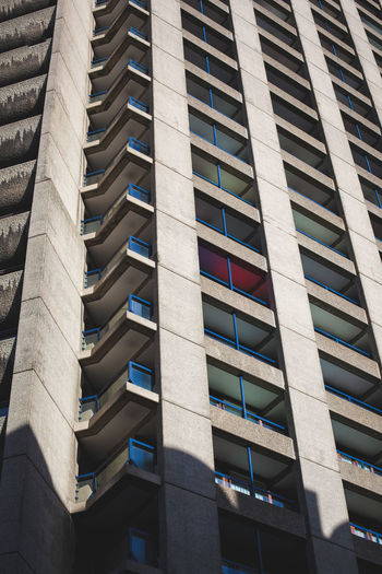 Barbican, City of London Architecture Barbican Centre Built Structure Concrete Façade Geometry Glow London London, Architecture, Building, Concrete, City Residential Building Structure Urban Window First Eyeem Photo