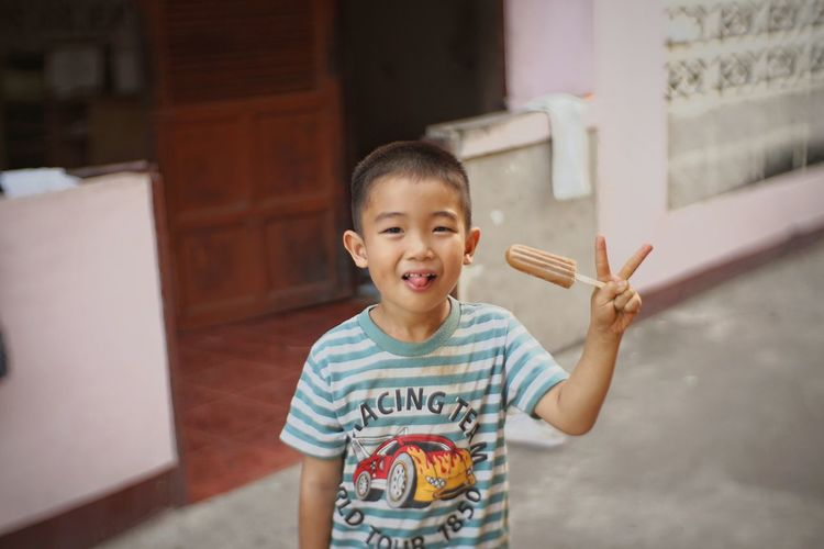 Boy Icecream Boy Childrenphoto Owntown Hot Thai Kid Kids Having Fun Kid