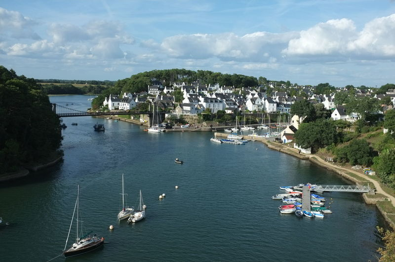 Bretagne Architecture Building Exterior Built Structure City Cloud - Sky Day High Angle View Marina Mode Of Transportation Moored Nature Nautical Vessel No People Outdoors Sailboat Sea Sky Transportation Travel Tree Water Waterfront Yacht