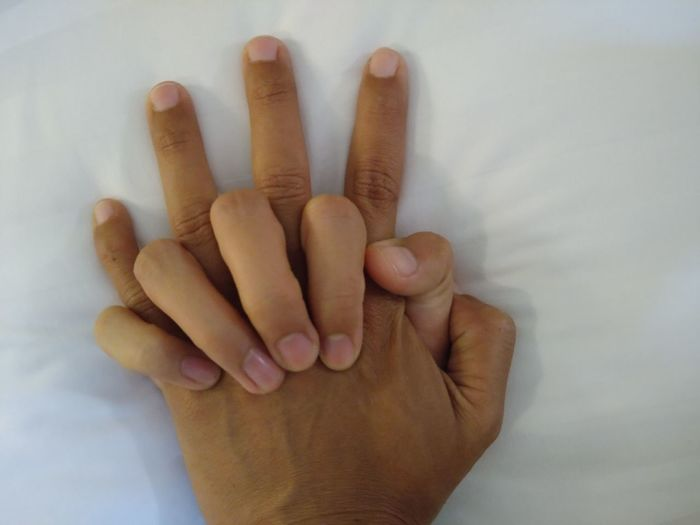 Close-up of person hand