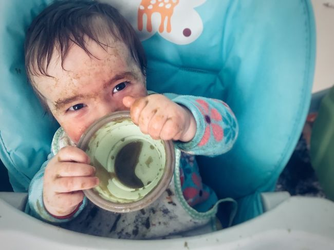 Baby Eating Baby Baby Food Messy Face