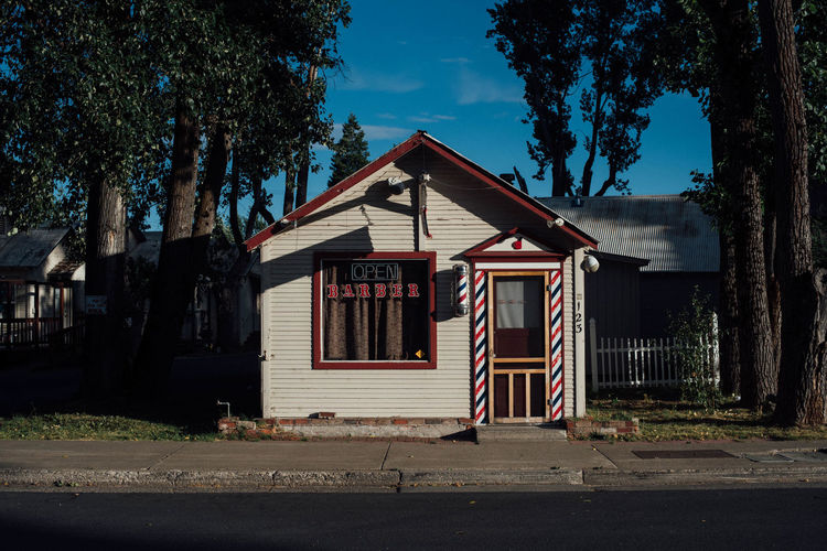 Open/Barber Architecture Barber Building Exterior Coutryside Façade Open Residential Structure Rural Scene Small Town USA