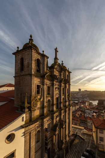 Grilos Church at Porto, Portugal Built Structure Architecture Building Exterior Sky Building City Cloud - Sky Place Of Worship Religion Belief Spirituality No People History The Past Outdoors Cityscape Church Portugal Travel Europe Tourism Tourist Attraction  Tourist Destination Convento