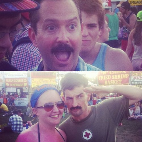 Met the guys from Reno 911! Dangle Travis Bonnaroo ComedyCentral