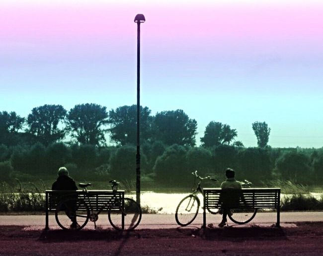 Bycicle Bicycles Transportation My Favorite Place Sunset Relaxing Dämmerung Sonnenuntergang Fahrrad Fahrräder Abendstimmung Fahrradtour Romantic Romantic Landscape Chilling People And Places Relaxing Moments Relax Relaxing Time