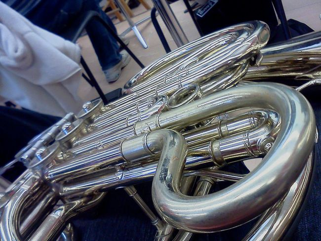 The Unusual Silver French Horn Instrument Bandgeek Band Musician Music