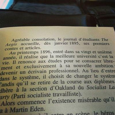 """""""Au printemps 1896,entré dans sa vingt et unième année,il réalise que la meilleure université c'est la vie,il se renonce aux études pour se consacrer a sa nouvelle ambition:devenir un écrivain professionnel..."""" Je vais aimer ce livre !"""