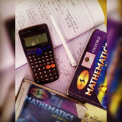 "Have been doing maths since last 2 hours!! 😥😒 But Maths be like ""main sirf exam main aata hoon sumaj main nhi"" x'D Mathsucks Midterms_stress 📚📚📝📖"