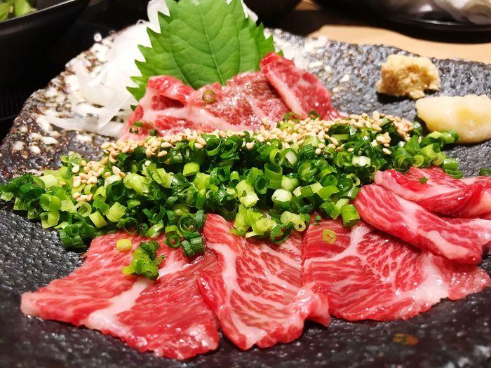 馬刺し❤️ Horse Meat Food Ready-to-eat Sashimi  Yummy♡ Life In Osaka Loveit Japan Life In Japan Looks Good
