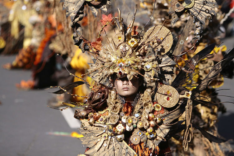 Person In Costume On Street During Carnival