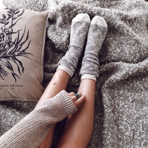 Home Cozy Cozy At Home One Person Human Leg Human Body Part Low Section Lifestyles Leisure Activity One Woman Only Skin Hydrated Skin Skincare Winter Hydrated