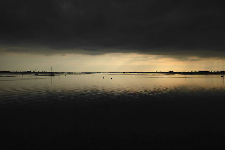 Moody Beauty In Nature Bostancı Chichester Harbour Cloud - Sky Dusk Moody Sky Nature No People Outdoors Reflection Scenics Sky Storm Cloud Tranquil Scene Tranquility Water