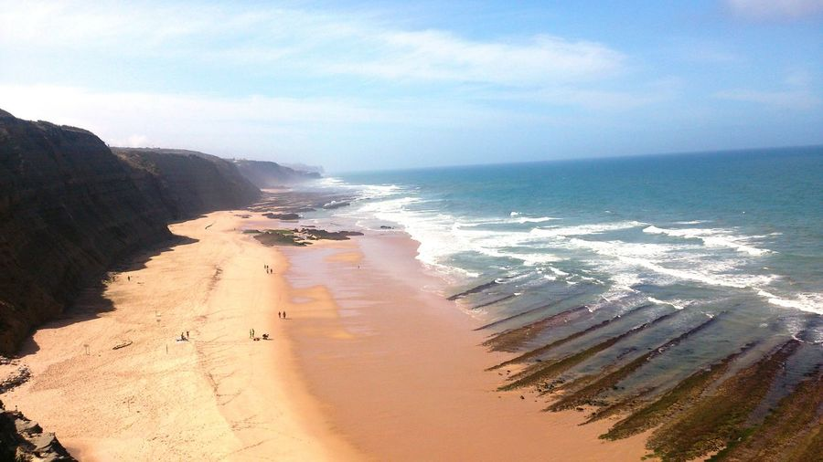 magoito Beach Sea Sand Water Nature No People Outdoors Wave Tranquility Day Beauty In Nature Scenics Horizon Over Water Sky Landscape Sand Dune sintra portugal