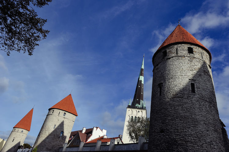 Old Town wall towers in Tallinn Tower Architecture Built Structure Tallinn Old Town Tallinn Estonia Old Town No People Travel Destinations History The Past Outdoors Fortress Tourism Tourist Attraction  Wall Wall - Building Feature Sightseeing Building Exterior