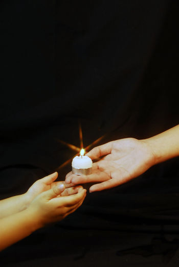 Adult Black Background Burning Candle Close-up Flame Heat - Temperature Holding Human Body Part Human Hand Illuminated Indoors  Night One Person People Love Give Giverny Love ♥ Lovelovelove Give Me Your Smile... Give Up Transfer Pass Love