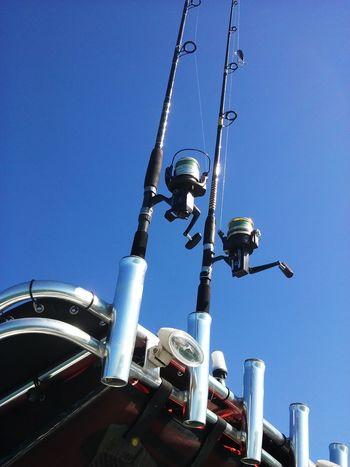 Fishing, Stiltsville, MiamiSkill  blue fishing rods Outdoors Day Sky Beach Life Enjoying Life Headwear No People Industrial Equipment
