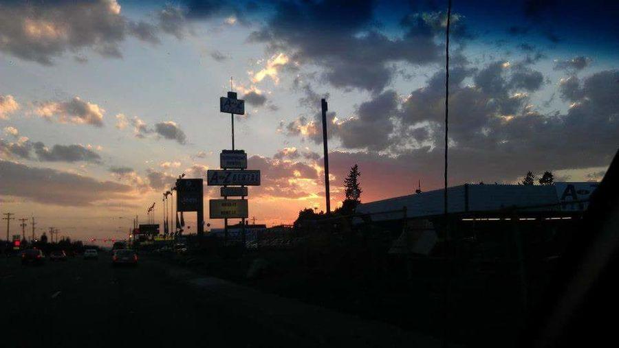 Sunset Spokane Sky