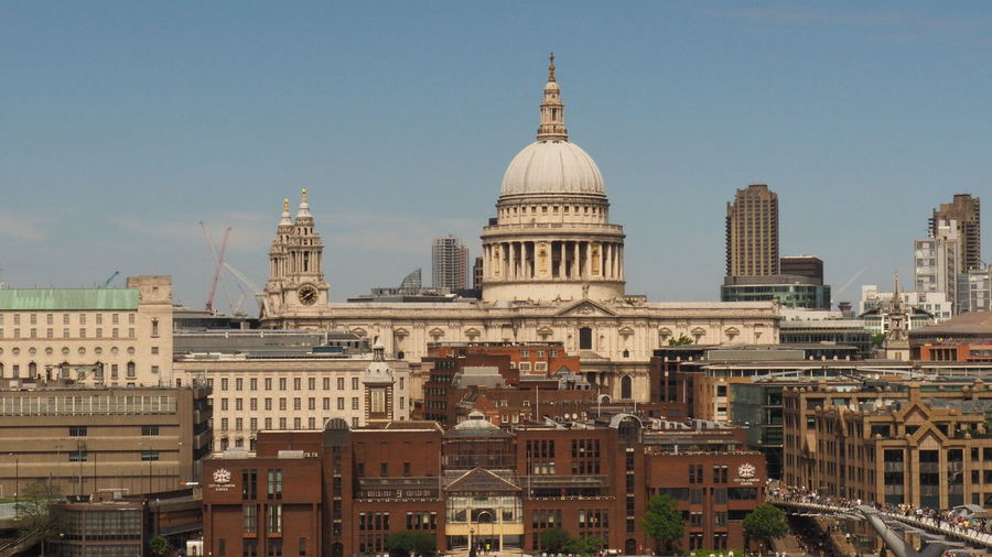 Saint paul's and buildings in london city against sky