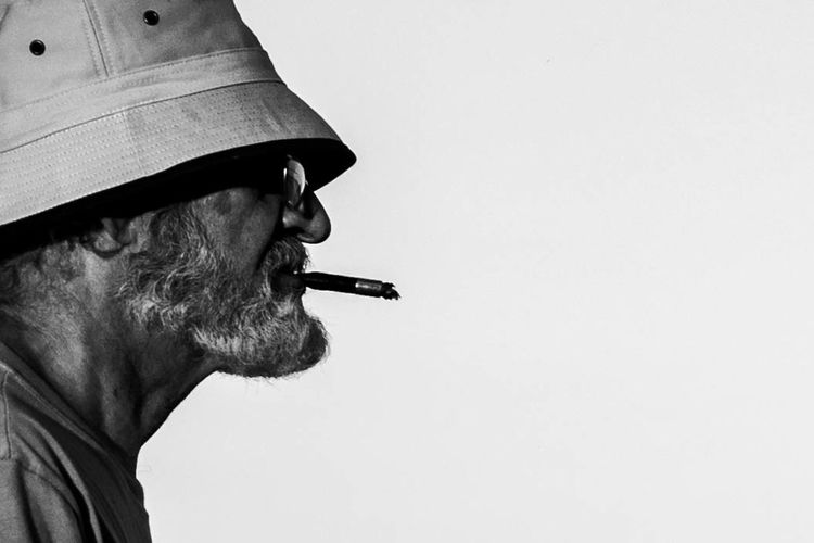 Argentina Outdoors Day Adult People Buenos Aires, Argentina  Oldmanportrait Oldman Oldmansbeard Portrait Bnw FacesBnw_collection Bnw_captures Bnwphotography Bnw_life Bnw_society Side View