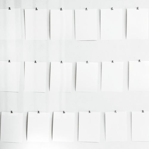 Blankpages on the gallery wall. Art Blank Blank Canvas White White Background WhiteCollection Monochrome Desaturated Blank Paper Blankpages Gallery Paper Drawing Large Group Of Objects White Background White Color No People Page