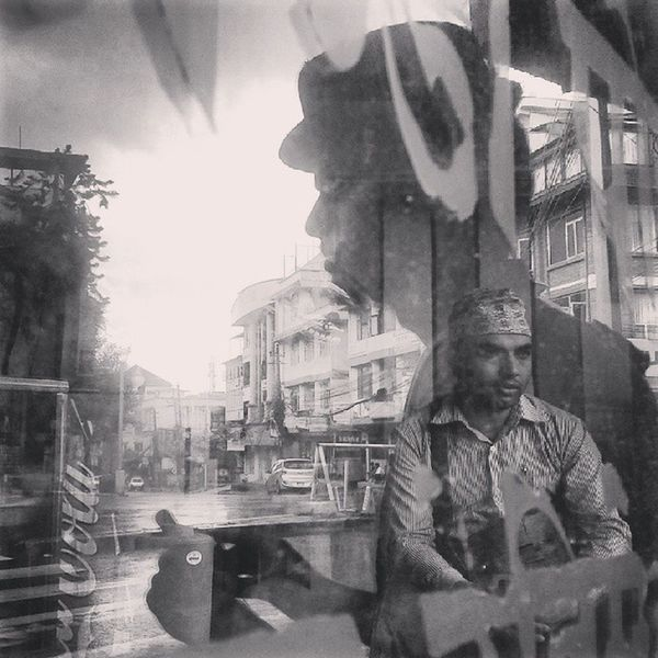 Quest People Reflection Urbancity Blackandwhitephotography Mobilography Streetphotography Streetsofnepal Nepal