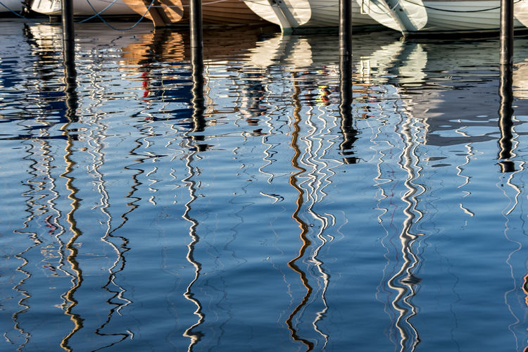 Reflections Aarhus, Denmark Baltic Sea Blue Water Day Denmark Nature No People Outdoors Sailing Boats Water Water Reflections Yacht Harbour