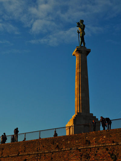 European Cities Belgrade Serbia Eastern Europe Balkans Europe Architecture Sky Built Structure Nature Outdoors Golden Hour Evening Sun Travel Destinations Travel Photography The Past Historical Place Statue Sculpture Low Angle View Representation Human Representation Tourism Incidental People Men Cloud - Sky Day History