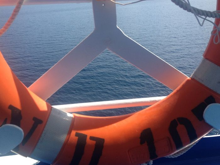 Ferry Me Over Blue Orange Sea View @ Agiokampos Evia Island Greece The Purist (no Edit, No Filter) Summer Views