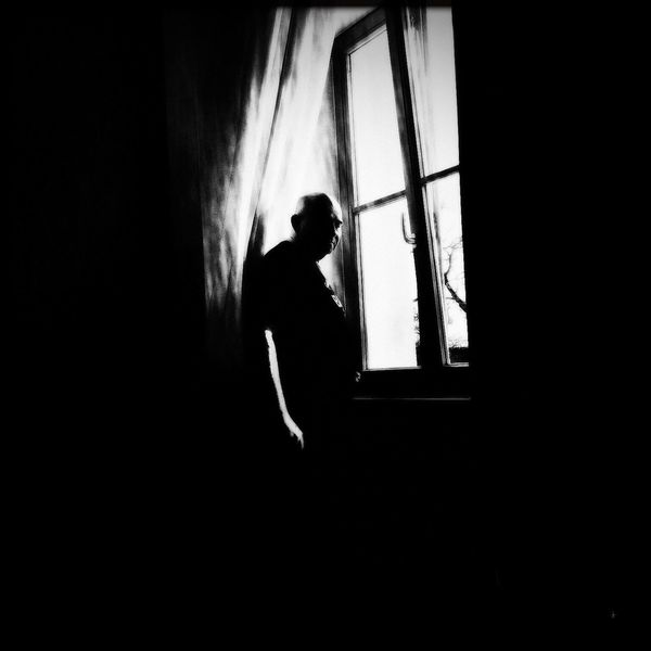 Dukeorii Blackandwhite Photography Black & White Black And White Blackandwhite Monochrome Window Morning View Man Baldhead Welcome To Black