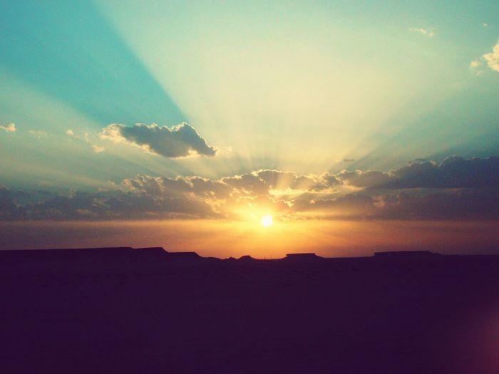 Sunset Sunset_collection Desert Qatar Beautiful Nature Beautiful Sky Sunset In The Desert