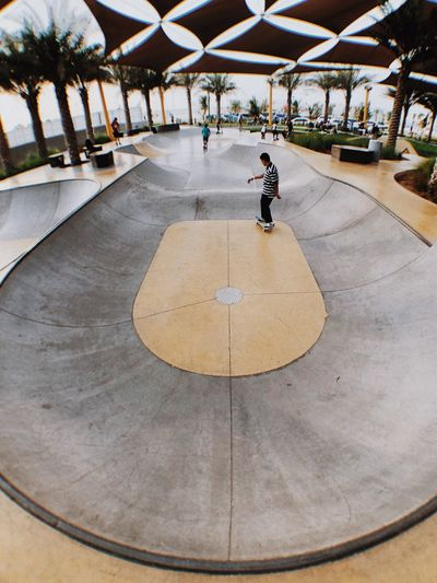 Skate everydamnday Dubai Skateboard Skateboarding Architecture Day Real People Incidental People One Person Circle Skate Photography: Same Tricks, New Perspectives