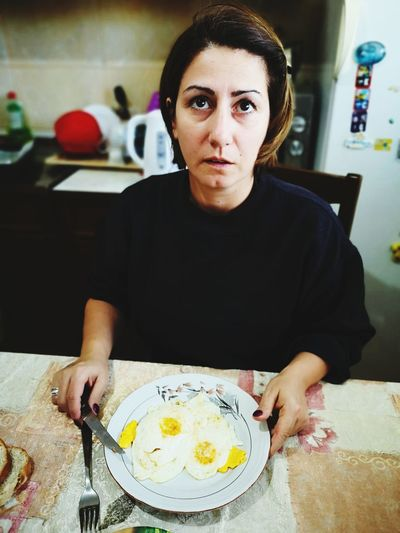 breakfast EyeEm Selects Portrait Eating Plate Sunny Side Up Breakfast Bacon