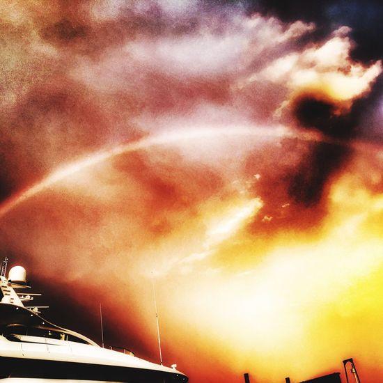 Rainbow at dusk - so many filters !