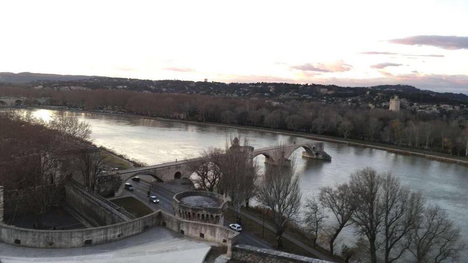 Südfrankreich - Côte d'Azur - Avignon Avignon Sur Le Pont D'Avignon... Bridge - Man Made Structure Water Connection High Angle View Dam Outdoors River Nature Tree Winter Beauty In Nature Sky Architecture