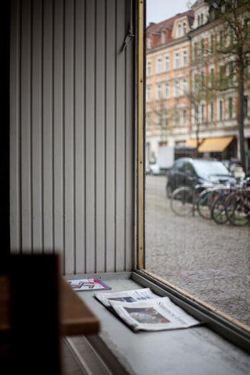 View of open window
