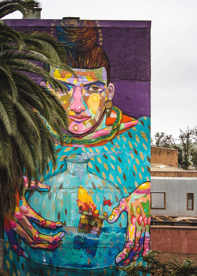 Exploring one of the most charming cities in South America. Architecture City City Life Cityscape Latin America Palm Tree Travel Art Art And Craft Building Exterior Day Explore Hand Human Representation Moody Multi Colored Mural No People Outdoors South America Street Streetart Travel Destinations Urban Urbex
