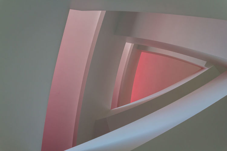 Low angle view of staircase at home
