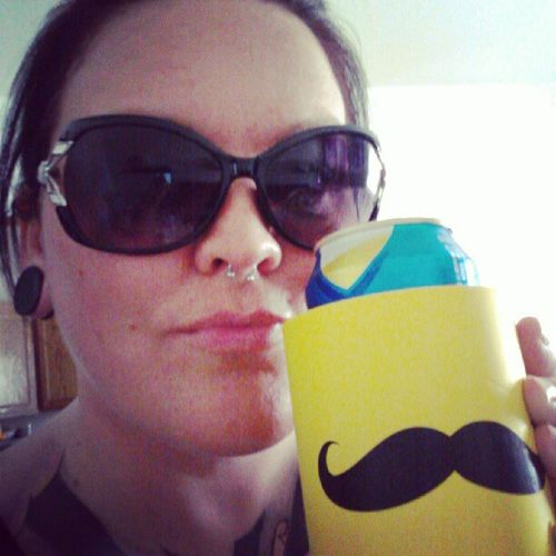 Millertime Mustache ... I mustache you, do you like my can coozie